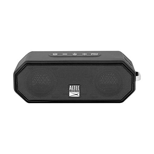Altec Lansing IMW449 Jacket H2O 4 Rugged Floating Ultra Portable Bluetooth Waterproof Speaker with up to 10 Hours of Battery Life, 100FT Wireless Range and Voice Assistant Integration (Black)