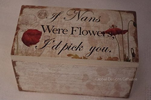 Global Design Concepts NAN portagioie Poppy Mini Scatola dei ricordi NAN Birthday Gift SG1683
