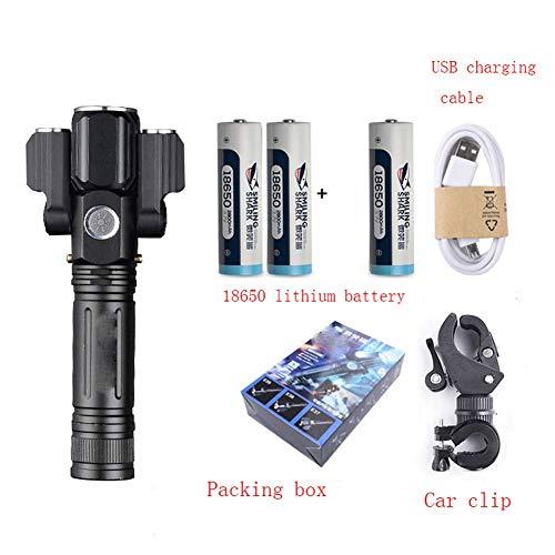 SJZLMB LE Taschenlampe LED Taschenlampe LED LED Mountainbike Licht Scheinwerfer Fahrradbeleuchtung starken Taschenlampe Ladesuperhellen Nacht Reitausrüstung Zubehör Reiten