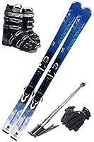 スキー5点セット SWALLOW 18-19 ROTACION 4A 165cm ストック120cm/ブーツ28cm/メンズグローブ