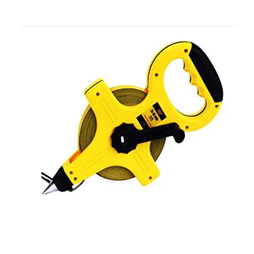 YHtech Medida de acero de la cinta, cinta de acero Medida 50M portátil, Cruz largo Cinta métrica, regla de medición, Medidor de Regla, herramienta de medición de la construcción de carreteras Ingenier