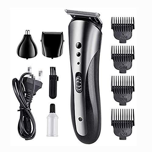 JJL 3 in1 3D Männer elektrische Haar-Scherer wiederaufladbare Rasierer bewegliche Bartschneider Schneidemaschine (Farbe: A)