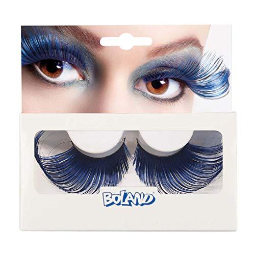 Boland BOL01634 Cils auto-adhésifs bicolore Noir/Bleu