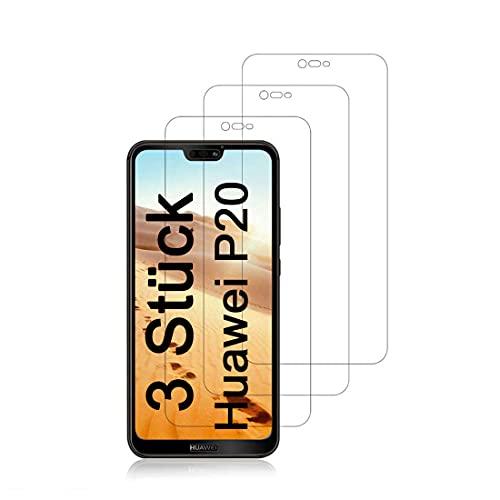 AMNIE [3 Stück Für Huawei P20 Lite Panzerglas Schutzfolie, Gute Qualität Gehärtetem Glass [9H Härtegrad] [Ultra Klar] [Anti-Kratzen] Displayschutz Gehärtetem Glass Folie für Huawei P20 Lite