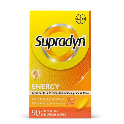 Supradyn Activo Multivitaminas para Todos con Vitaminas, Minerales y Coenzima Q10, Ayuda a Activar y Mantener tu Energía y Reducir el Cansancio, 90 Comprimidos