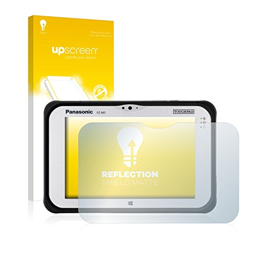 upscreen Entspiegelungs-Schutzfolie kompatibel mit Panasonic Toughpad FZ-M1 – Anti-Reflex Bildschirmschutz-Folie Matt