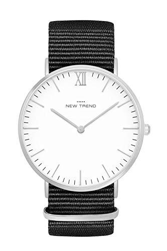 New Trend - Love for Accessories Damen Uhr analog Quarzwerk mit Nylon-Armband EW-JGUB-6V4U