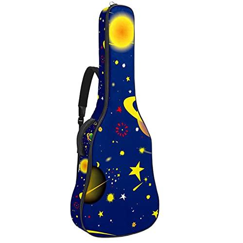 Bolsa de guitarra impermeable con cremallera suave para guitarra acústica y clásica clásica Folk Guitarras caso Fantasía Cósmico Sky