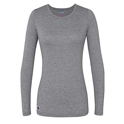 Sivvan Women's Comfort Long Sleeve T-Shirt/Underscrub Tee - S8500 - Dark Marl Gray - S