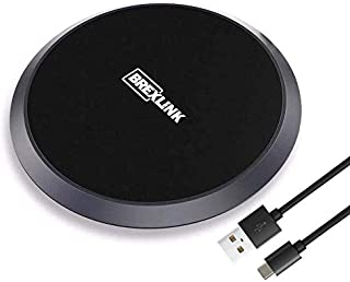 BrexLink Quick Wireless Charger Qi Certified[10W], Slim Fast Charging Pad w. USB C Port 7.5W Compatible w. iPhone Xs Max/Xs/XR/X/10 8 Plus 8, Samsung Galaxy S10/S9/S8 Note 9 8 S7 (No Wall Adapter)
