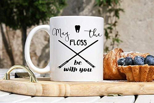 Taza de café divertida con diseño de dentista, regalo para dentistas, regalo de periodoncista de Star Wars