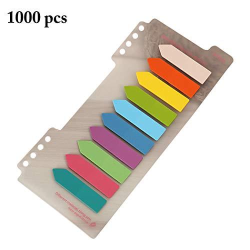Marcador de página Funpa 1000 peças 10 cores aba de índice de papel adesivo para página ou texto