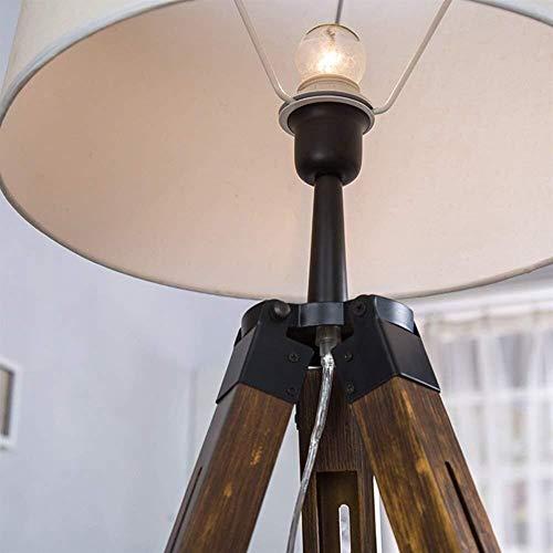 BJLWTQ Lámpara de pie, De pie luminarias de pie luminarias de Vida sencilla habitación de madera moderna Estudio dormitorio nórdico de la manera creativa de las luces de Corea Incluye bombilla Luz par
