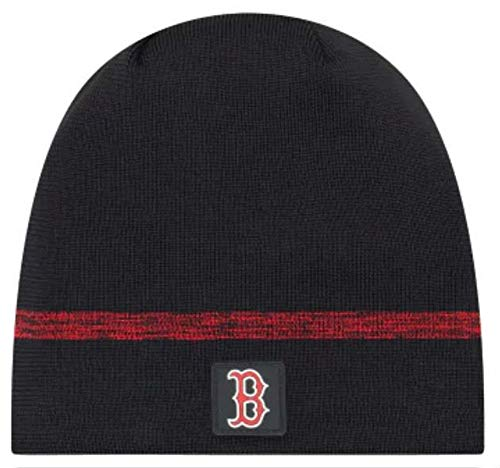 New Era Authentic Boston Red Sox Club House No-Cuff Sport Knit MLB Onfield Sideline Beanie Unisex Hat Navy, OSFM
