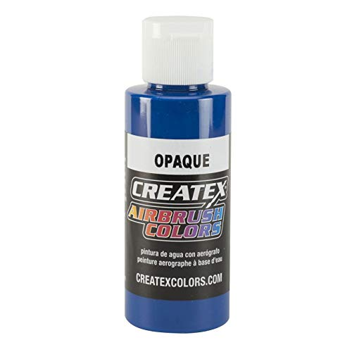 Airbrush Opaque Paints Color: Blue, Capacity: 4 Oz by Createx