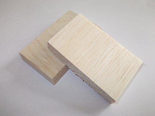 2 blocchetti di balsa in legno, 150 mm x 75 mm x 75 mm