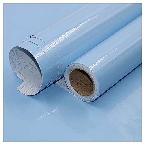 bandezid Vinilo Pegatina Muebles de Cocina Rollo Autoadhesivo Impermeable Vinilo Adhesivo PVC Decoración para mue bles Papel Impermeable Autoadhesivo-Azul Perlado 60cm*5m