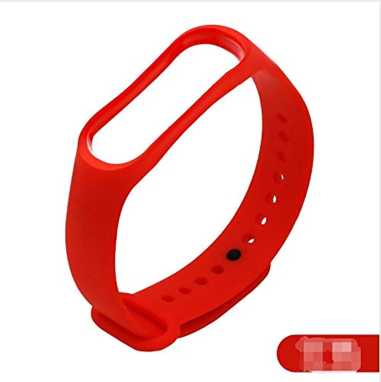 家事をする岸お金ゴムWATCH BAND SFFGF Mi Band 3 / Mi band 4に対応するSport WatchBand、Simple Red Replacement Bandフィットネススポーツアクティビティブレスレットリストバンド/Mi Band 4ストラップ付きWatchBandアクセサリー