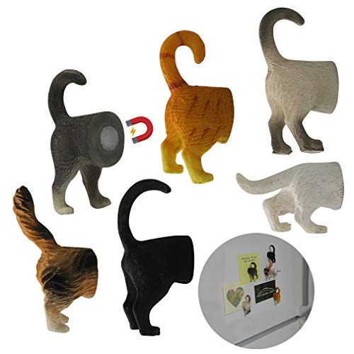 Evelots Refrigerator Magnets-Cat Butts-Photo/Key Holder-6 Popular Breeds-Set/6