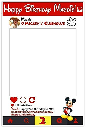 Mickey Mouse Selfie Frame Social Media Frame Photo Booth Prop Poster