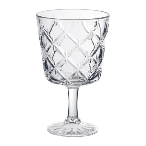 IKEA FLIMRA Weinglas aus Klarglas; gemustert; (23cl)