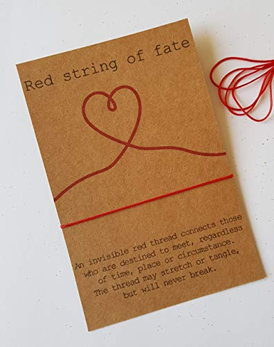 Red String of Fate Bracelet, Soulmate, Friends Gift Card, Couples Bracelet, Anniversary Gift, Anniversary Card,His & Her Bracelet,Friend Gift
