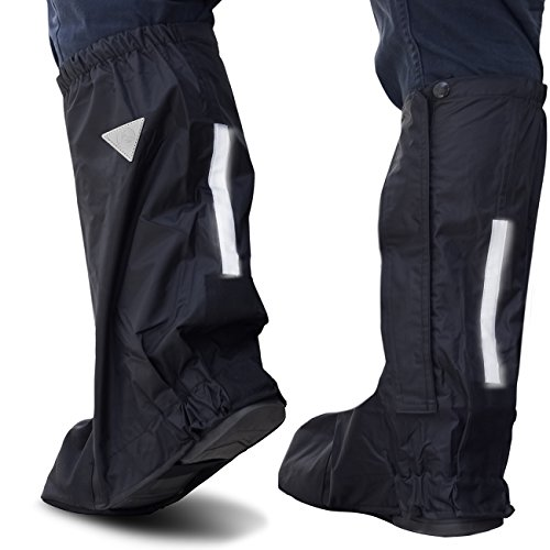 OxGord Motorcycle and Powersport Rain Boot Covers Extra Large XL Slip Over Elastic
