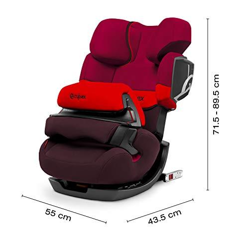 CYBEX Silver Siège Auto Évolutif Pallas 2-Fix, Adapté aux Voitures Avec ou Sans ISOFIX, Groupes 1/2/3 (9-36 kg), De 9 Mois à 12 Ans Environ, Rumba Red