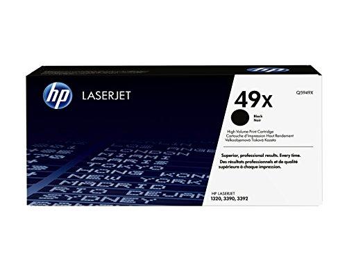 HP 49X (Q5949X) Schwarz Original Toner mit hoher Reichweite für HP Laserjet 1320, 1320n, 1320nw, 1320t, 1320tn, 3390 und 3392