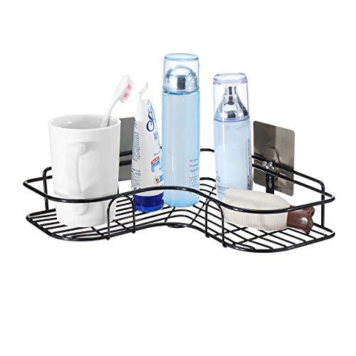 MJJEsports douche opslag afvoer rek muur Organizer zuignap houder voor keuken & badkamer