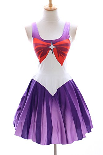SK-05 Gr. S-M Sailor Moon Saturn lila Kleid dress Cosplay Manga Japan Anime