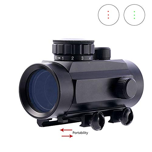 IORMAN Hunting Rifle Crossbow Red Green Dot Sights Scope Sight 0.5 MOA 1x30mm Scope Red Green with 3 Point Dot Reticle Sight Special 20mm Rail