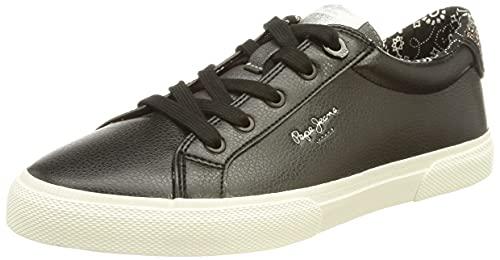 Pepe Jeans Kenton Plain, Sneaker da Donna, (999black), 40 EU