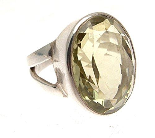Damen 925Silber Ring mit Lemon Quarz Stein Gr: oder 18,25Laptop