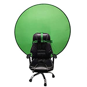 Green Screen Backdrop Portable Webcam Background Backdrop Round Photography Solid Color Green Chromakey Cloth Collapsible Long-Lasting Green Background Cloth for Video Green 75cm
