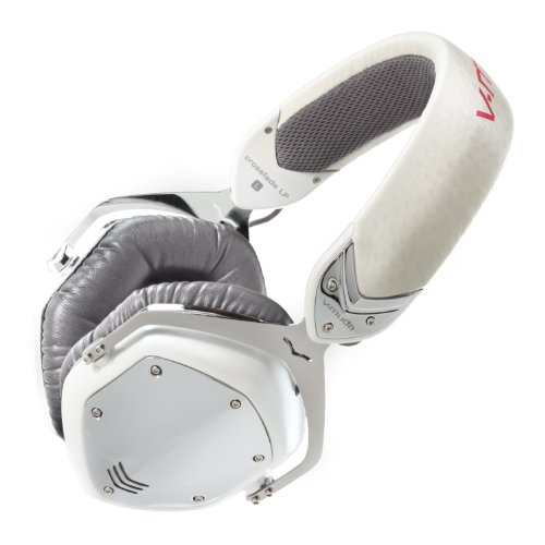 V-MODA Crossfade LP Over-Ear Noise-Isolating Metal Headphone (White Pearl)