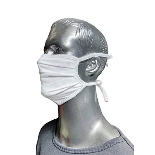Mund Nasen Schutz aus 100% Baumwolle, weiß, bis 95 Grad waschbar und kochbar, one Size, Universalgröße