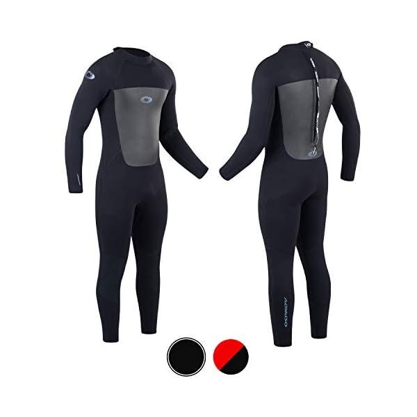 Osprey Mens Full Length 5 mm Winter Wetsuit, Adult Neoprene Surfing Diving Wetsuit, Origin, Multiple Colours