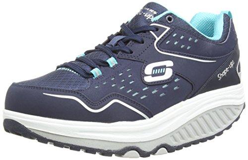 Skechers Shape Ups 2.0 Everyday Comfort, Women's Fitness Shoes, Blue (NavyLight Blue), 3 UK (36 EU)