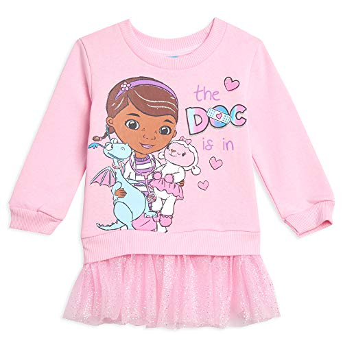 Disney Doc McStuffins Toddler Girls Costume Pullover Sweater with Tulle Ruffles Pink 5T