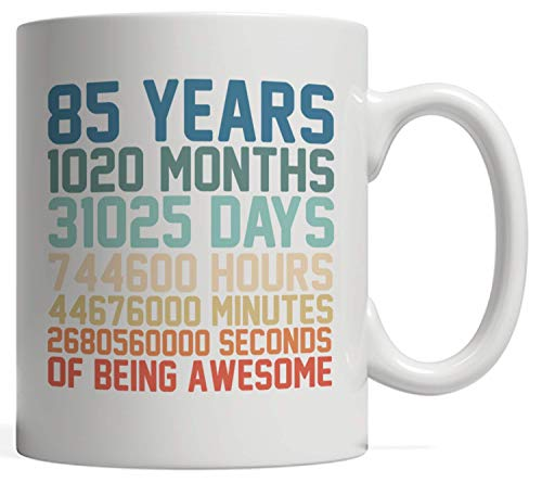 85 Years Old Anniversary Math Mug - 85th Birthday Vintage Retro Gift idea for Boy or Men and Girl or Women who was born in 1935! Prepare for fun party celebration for eighty five year old kid in eight