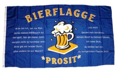 Flagge Fahne Bier Spruch Bierkrug 90 x 150 cm FLAGGENMAE®