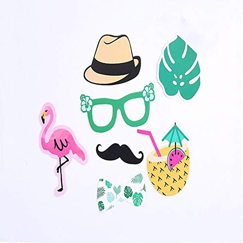 HTTER Flamingo Tropische Zomer Ananas Bril Thema Foto 20 Stks Party Supplies Booth Props Papier