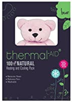 Thermal Aid 100% Natural Heating and Cooling Pack Pink Bear by Thermal-Aid