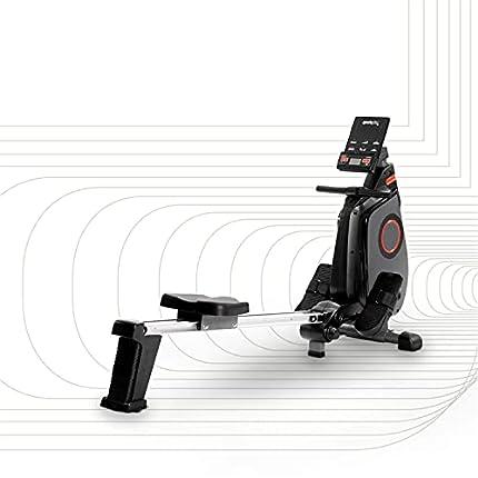 SportPlus máquina de remo, plegable, para casa, compatible con app, ordenador con 24 niveles, 8kg masa de volante, sistema de frenos magnéticos, silencioso, peso del usuario max. 150 kg, SP-MR-030-iE