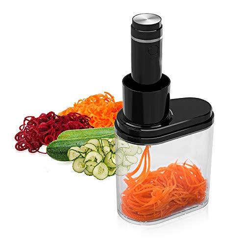 HUIDANGJIA Cortadora de Verduras eléctrica,en Espiral,Multifuncional espiralizador de Verduras,3 Cuchillas Intercambiables,100 W,con...