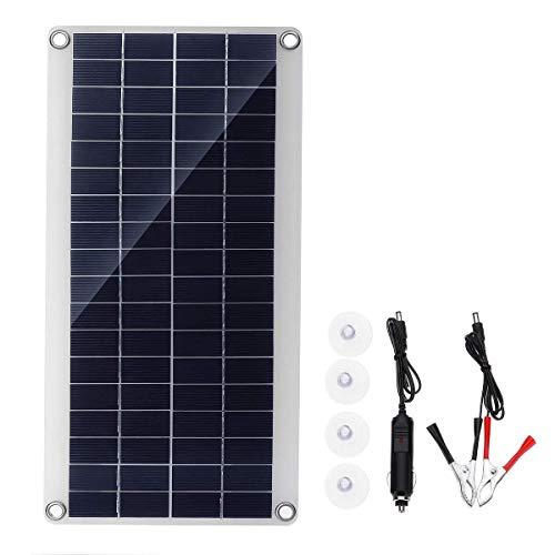 LKK-KK 15W portátil USB Kit de panel solar Dc de carga USB Doble Puerto ventosas camping Viajar