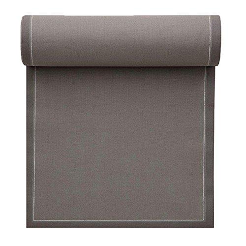 Serviette de table en coton 32x32cm - Rouleau de 12 serviettes - Gris