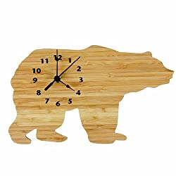 Bamboo Bear Wall Clock