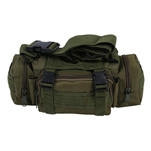 SODIAL(R)Militaire Camping Randonnee Sac exterieure nouvel utilitaire tactique Waist Pack Pouch - vert